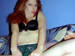 Redhead Exposes Herself